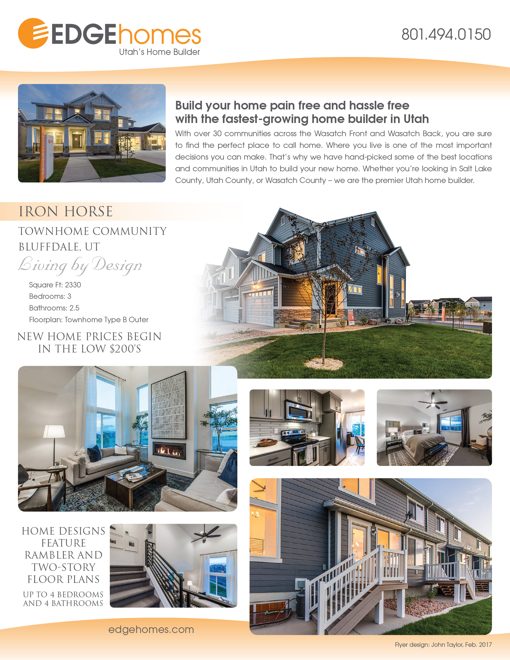 Edgehomes Flyer Marketing Materials For Home Builders